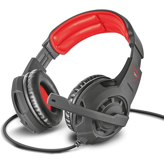 Audífonos Gamer Trust Radius GTX-310 Black Y Red