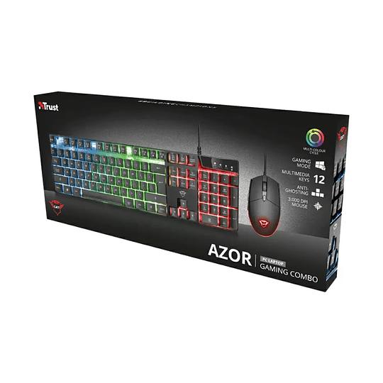 Kit Gamer Teclado Mouse Trust Gxt838 Azor Rgb Español