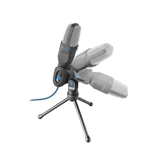 Microfono Trust Gxt 212 Mico Con Tripode 3.5 Mm Usb Azul