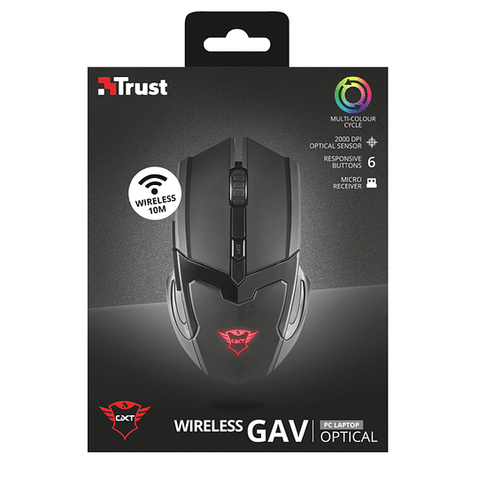 Mouse Gamer Inalambrico Pro Trust Gxt 103 Gav 2000dpi 23213