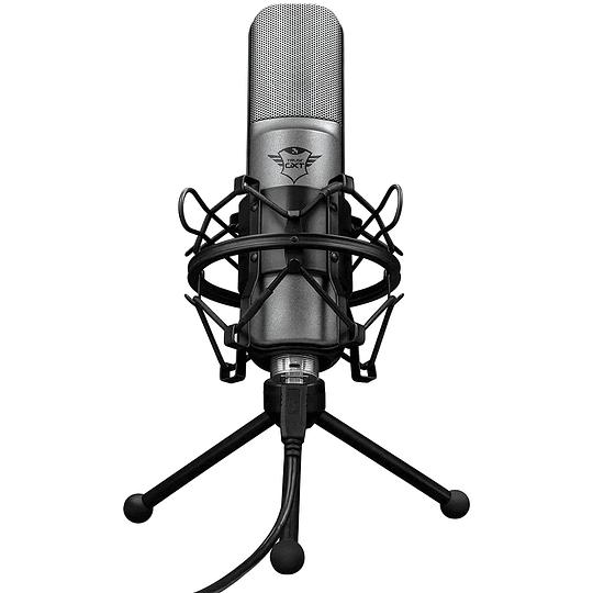 Micrófono Streaming Usb Cardioide Trust Lance Gxt242 Tripode