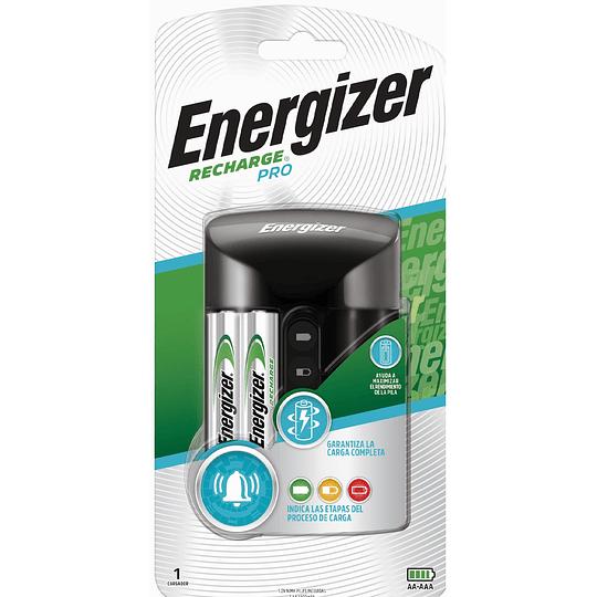 Cargador De Pilas Aa Aaa Energizer Recharge Pro + 2 Pilas Aa