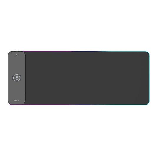 Mousepad Gamer Philips L604 Rgb Xl Carga Inalámbrica 80x30cm