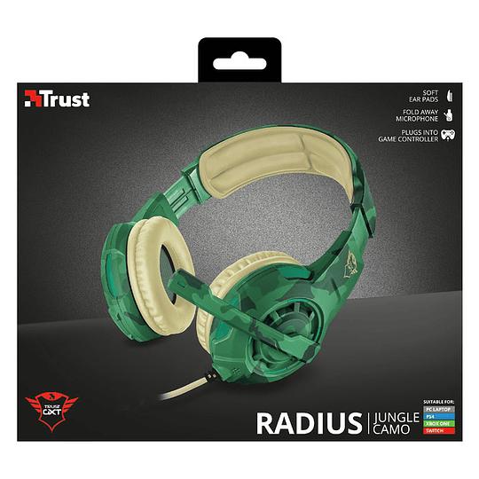Audífonos gamer Trust Radius Jungle Camo GXT310C