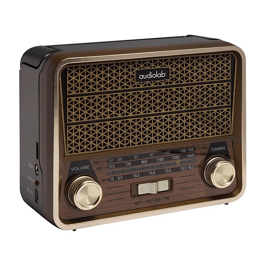 Receptor Mini Radio Retro Vintage Am-fm-sw Mp3 Usb Audiolab