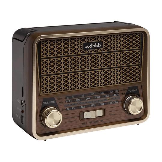 Receptor Mini Radio Retro Vintage Am-fm-sw Mp3 Usb Audiolab