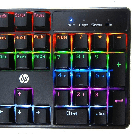 Teclado Mecanico Gamer Rgb Led Hp Gk320 Blue Switch