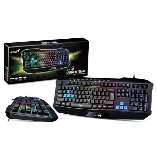 Teclado Gamer Genius K215 Scorpion Negro USB 7 colores