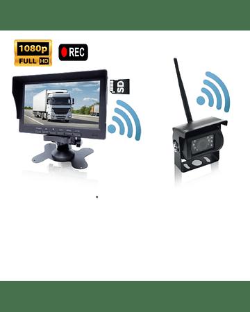 Kit de Retroceso Con Grabacion + 2 Camaras Wireless RW