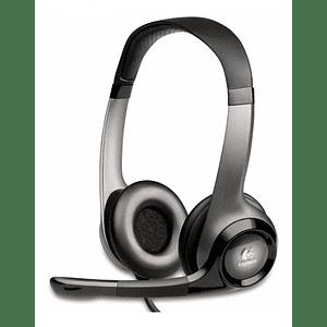 Audífonos con Micrófono H390 Logitech ClearChat Comfort , Alámbrico, USB, Negro