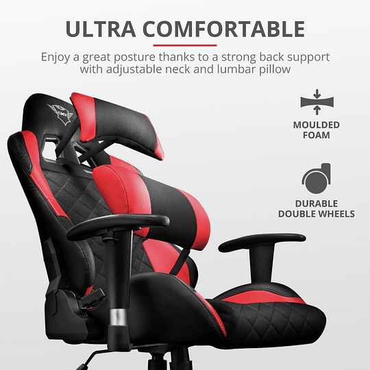 Silla Gamer Profesional Trust GXT 707R Resto Gaming Red - Image 6