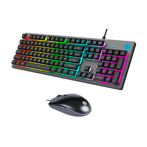 Kit Gamer Teclado Y Mouse Hp Km300f Silver Retroiluminado