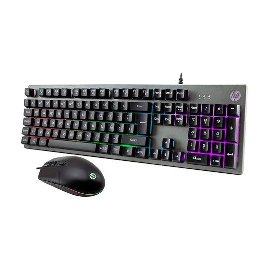 Kit Gamer Teclado Y Mouse Hp Km300f Silver Retroiluminado - Image 2