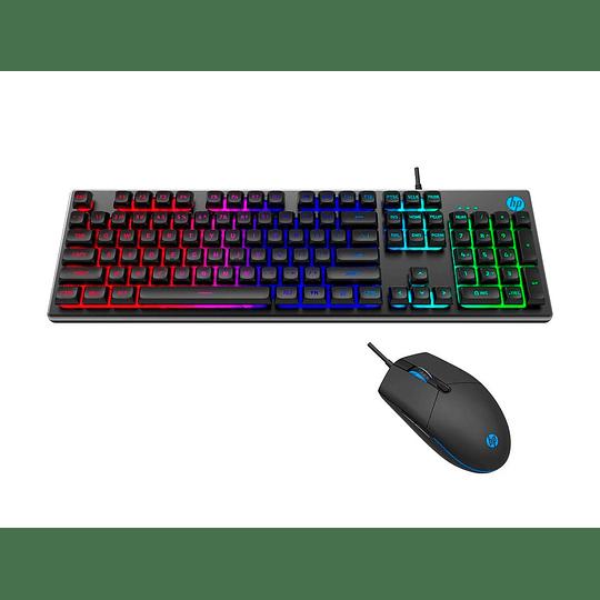 Kit Gamer Teclado Y Mouse Hp Km300f Silver Retroiluminado - Image 4