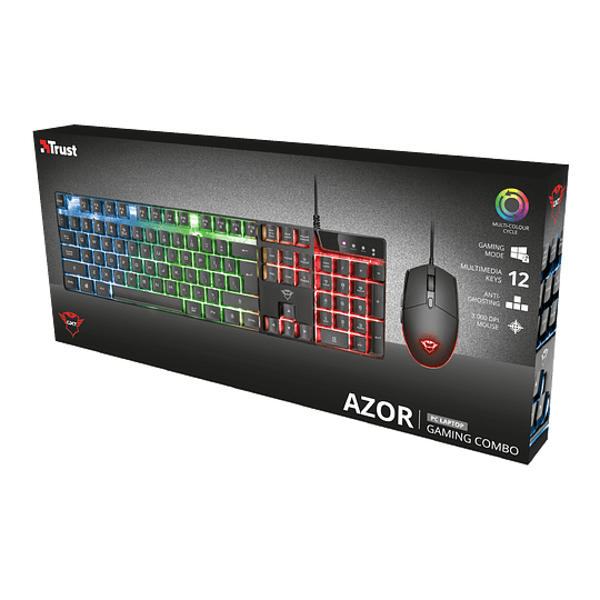 Kit Gamer Trust Gxt 838 Azor Teclado Mouse Rgb Pc Ps4 Xbox - Image 4