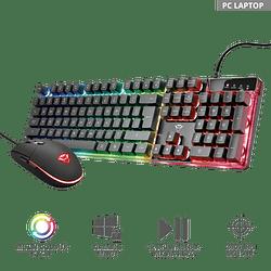Kit Gamer Trust Gxt 838 Azor Teclado Mouse Rgb Pc Ps4 Xbox