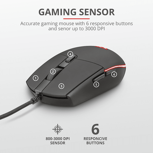 Kit Gamer Trust Gxt 838 Azor Teclado Mouse Rgb Pc Ps4 Xbox - Image 8