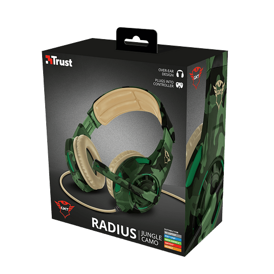 Audifonos Gamer Radius Gxt 310c Jungle Trust Pc/ps4/xbox/switch - Image 3