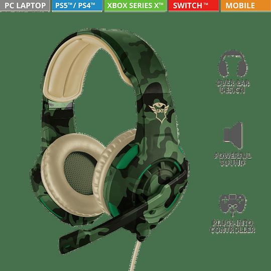 Audifonos Gamer Radius Gxt 310c Jungle Trust Pc/ps4/xbox/switch - Image 4