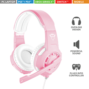 Audífonos Gamer Radius Pink Gxt310p Trust c/ps4/xbox/switch