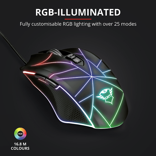 Mouse Gaming Trust Ture Gxt 160x Rgb Led - Image 15