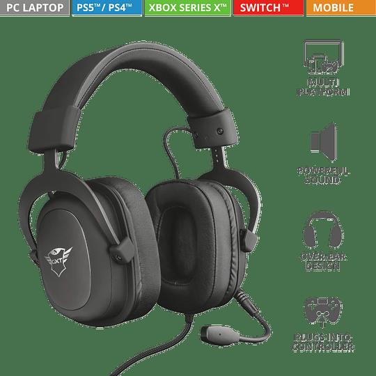 Audifono Gamer Trust Zamak Premiun Headset Gxt 414 - Image 4