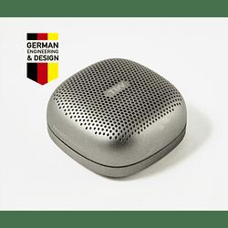 Parlante Portátil Inalámbrico Thonet Vander Bluetooth Duett Tws Recargable Plateado
