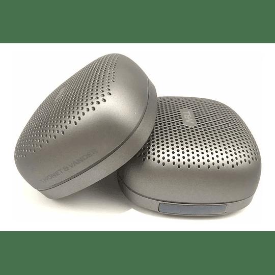 Parlante Portátil Inalámbrico Thonet Vander Bluetooth Duett Tws Recargable Plateado - Image 2