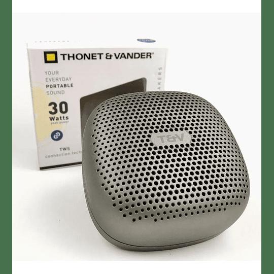 Parlante Portátil Inalámbrico Thonet Vander Bluetooth Duett Tws Recargable Plateado - Image 3