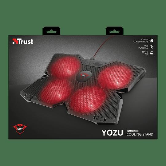 Base Enfriadora 4 ventiladores para Notebook TRUST GXT 278, Notebook Cooling Stand hasta 17.3