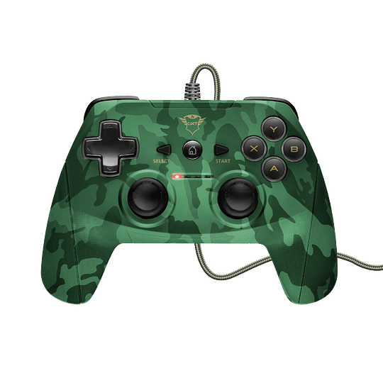 Joystick Trust GXT 540C Yula, Wired, Compatible PC y PS3, Green Camo - Image 4