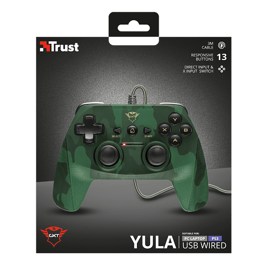 Joystick Trust GXT 540C Yula, Wired, Compatible PC y PS3, Green Camo - Image 6