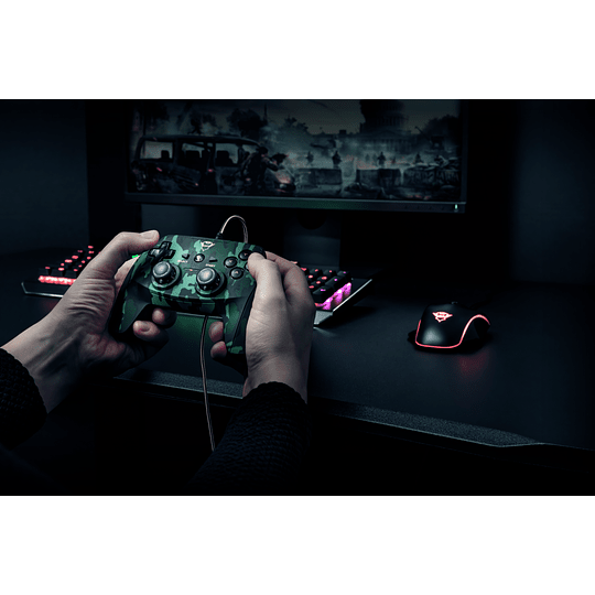 Joystick Trust GXT 540C Yula, Wired, Compatible PC y PS3, Green Camo - Image 8