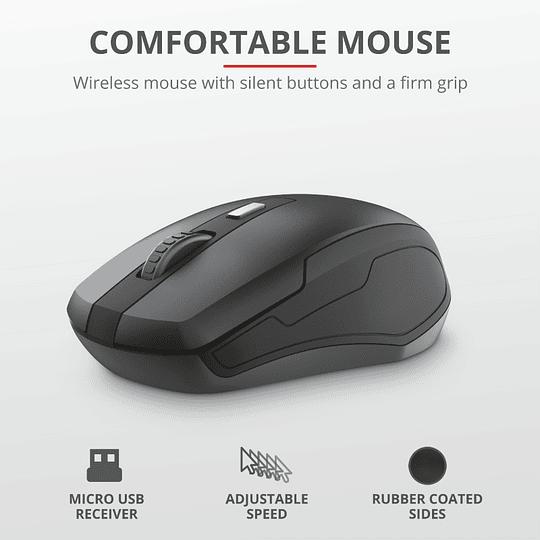 Combo Teclado + Mouse Trust Ody Inalambrico Usb - Image 10