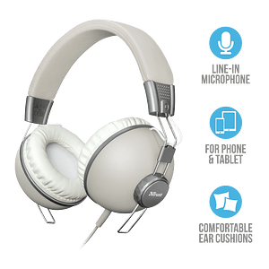 Audifono Urbano Retro Ivory Noma Over-ear Trust
