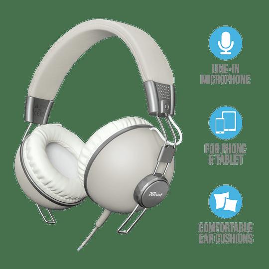 Audifono Urbano Retro Ivory Noma Over-ear Trust - Image 1