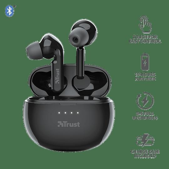 Audífonos Bluetooth New Nika Xp Touch Trust Negro - Image 1