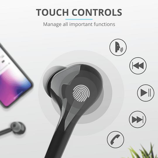 Audífonos Bluetooth New Nika Xp Touch Trust Negro - Image 8