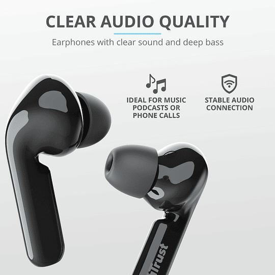 Audífonos Bluetooth New Nika Xp Touch Trust Negro - Image 9