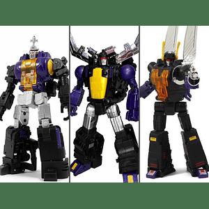 Transformers Masterpiece Fans Toys Set de 3 Figuras (FT-12T Grenadier, FT-13 Mercenary, FT-14 Forager)