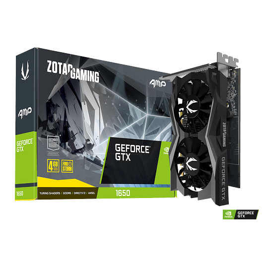 Tarjeta de video Zotac GeForce GTX 1650 AMP, 4GB, GDDR6, 128-Bit, HDMI - Image 1