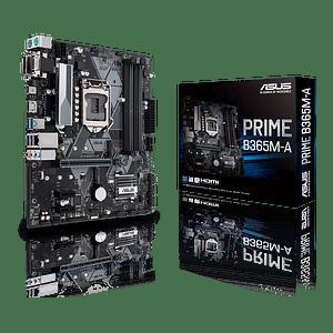 Placa Madre ASUS Prime B365M-A, Intel LGA-1151 mATX Aura Sync RGB, DDR4 2666MHz, Intel Optane Ready