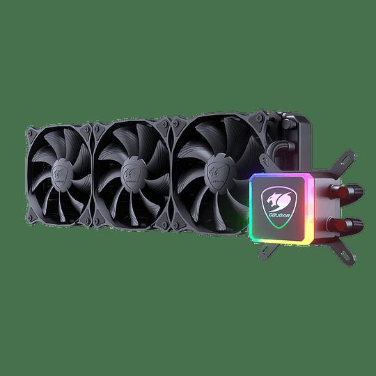 Refrigeración Líquida Cougar Aqua 360 RGB, Intel-AMD, 120mm x 3, PWM - Image 1