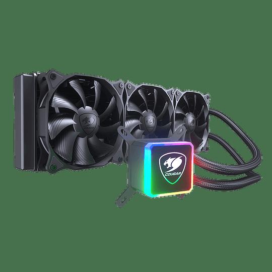 Refrigeración Líquida Cougar Aqua 360 RGB, Intel-AMD, 120mm x 3, PWM - Image 2