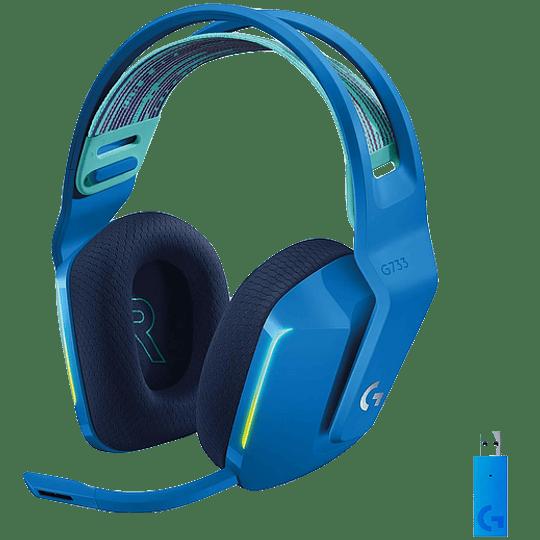 Audifono Gamer Inalámbrico Logitech G733, Lightspeed, RGB, USB-C, Multiplataforma, Color Azul