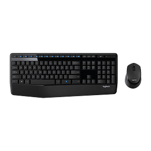 Kit Combo Teclado y Mouse Logitech MK345, Inalámbrico, USB 2.0, Negro/Azul