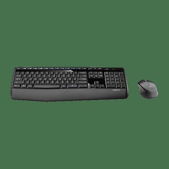 Kit Combo Teclado y Mouse Logitech MK345, Inalámbrico, USB 2.0, Negro/Azul - Image 2