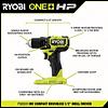 Kit de Taladro Atornillador + Atornillador de Impacto Inalámbricos RYOBI ONE+ HP COMPACT PSBCK01K