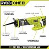 Sierra Sable Inalámbrica RYOBI ONE+ P519 con batería RYOBI 18V ONE+ 2.0 Ah y Cargador