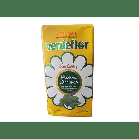 Yerba Mate  Serrana Verde Flor 500 gr